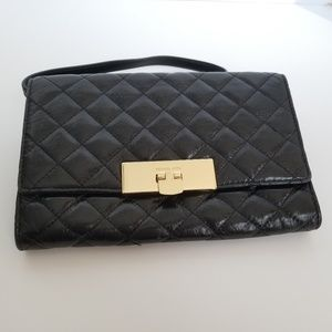 Michael Kors quilted black leather bag